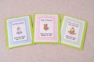 60 Personalized Baby Shower Tea Bag Favor Labels