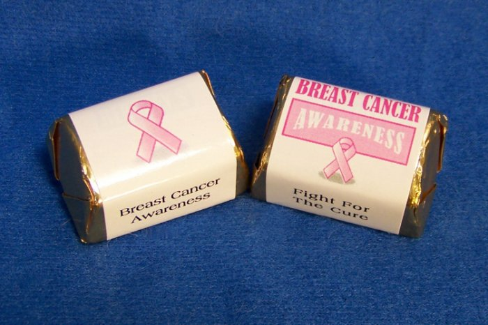120 Personalized Breast Cancer Awareness Hershey Nugget Candy Wrapper Favor Labels