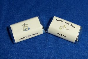 112 Personalized Baby Shower Miniature Candy Wrapper Favor Labels Styles #1-2