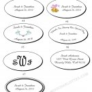 "2.5x1.375"" Personalized Wedding or Bridal Shower Oval Favor Labels (105 cnt)"