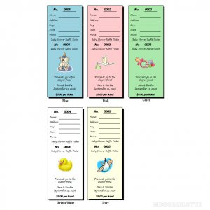 32 Personalized Baby Shower Raffle Ticket Favors