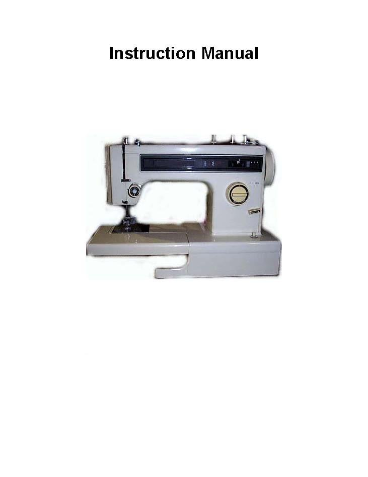 Kenmore Models 158.1212 - 1341 Sewing Machine Manual Pdf