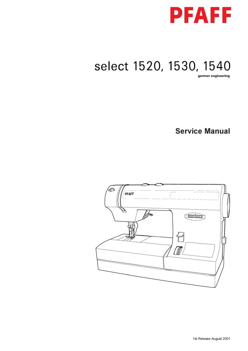 Pfaff 1520 Sewing Machine Service Manual Pdf
