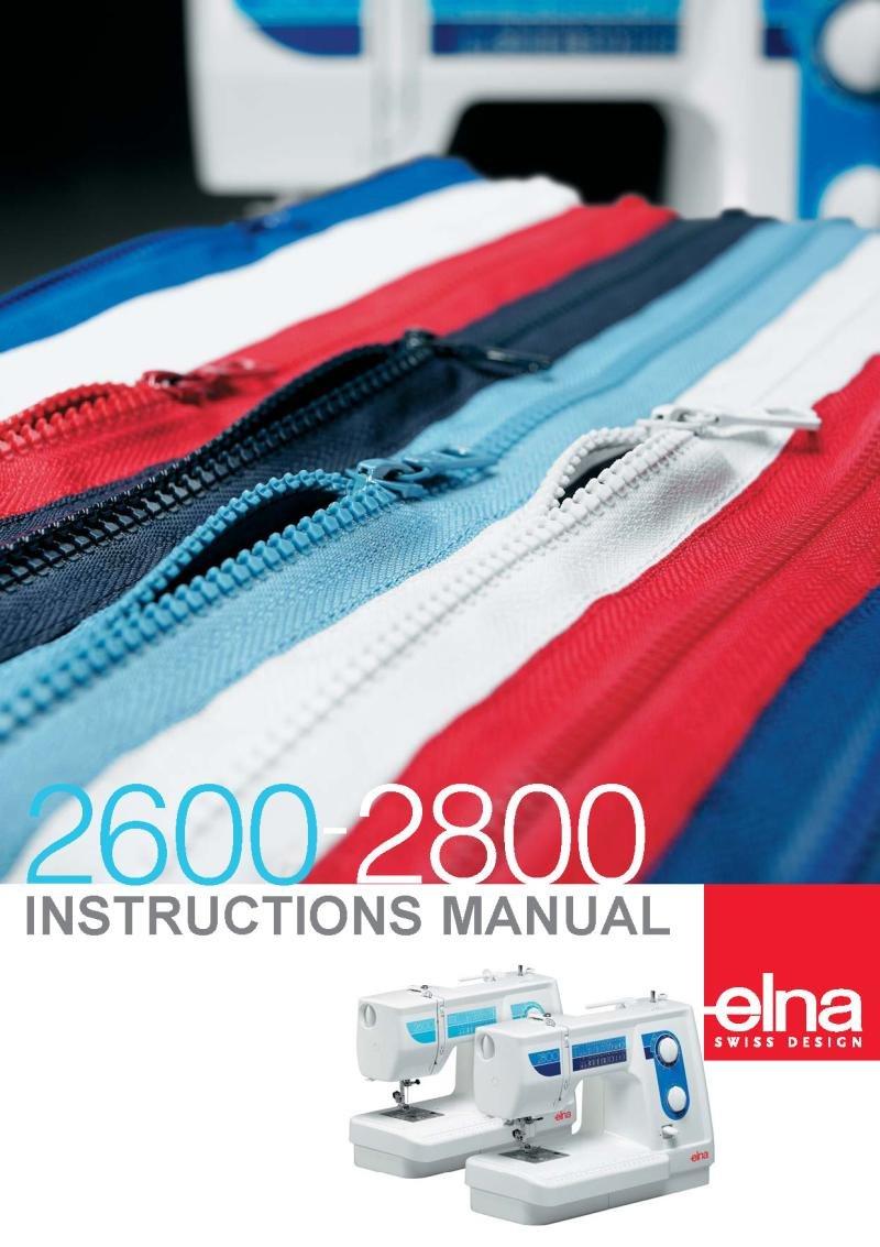 Elna 2600 Sewing Machine Instruction Manual Pdf