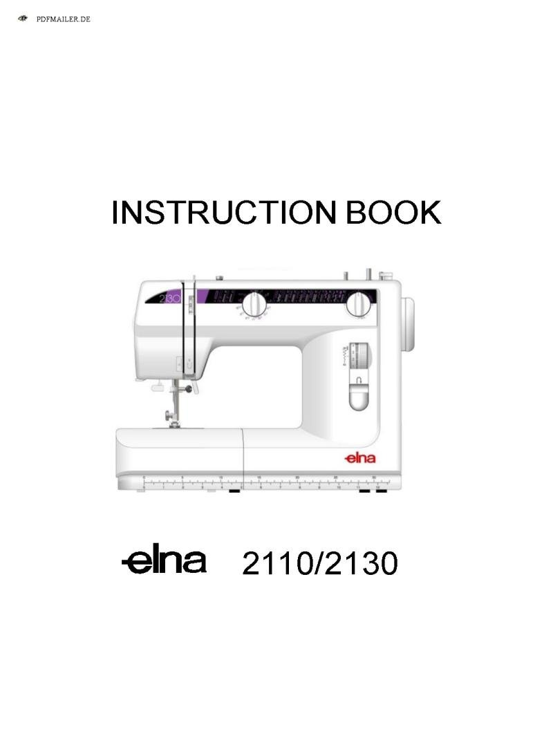 Elna 2110 Sewing Machine Instruction Manual Pdf