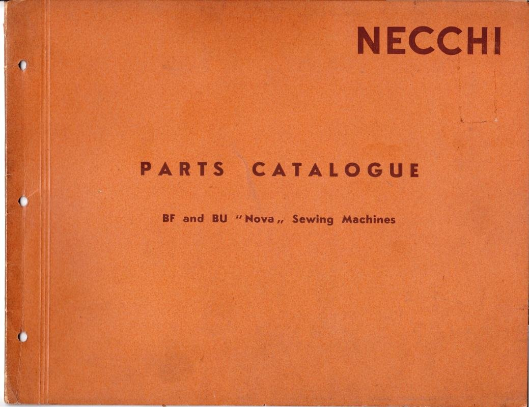 Necchi BF - BU Nova Sewing Machine Parts Catalogue Manual Pdf