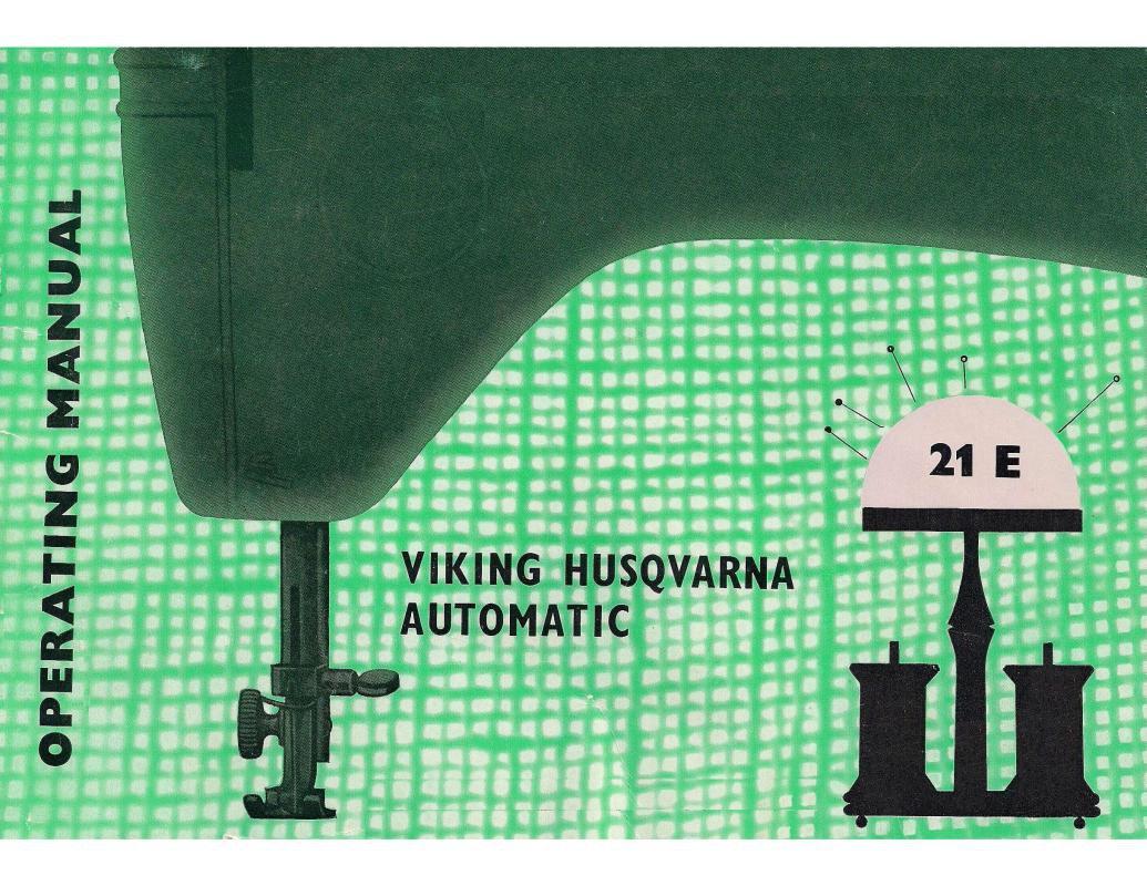 Viking Husqvarna Model 21E Sewing Machine Instruction Manual Pdf