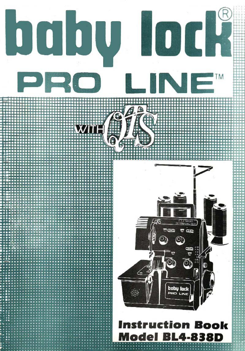 Babylock BL4-838D Sewing Machine Manual Pdf