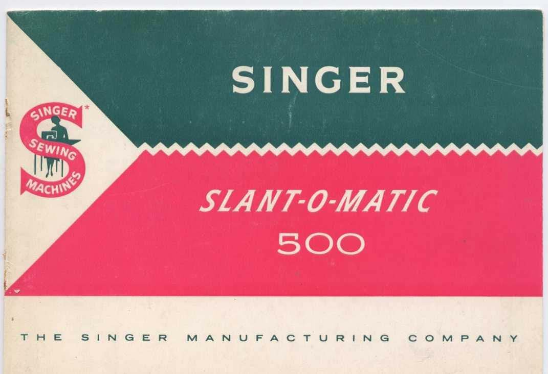 Singer 500 Sewing Machine Manual Pdf
