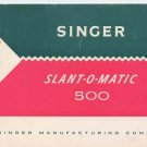 Singer 500 Sewing Machine Manual Pdf