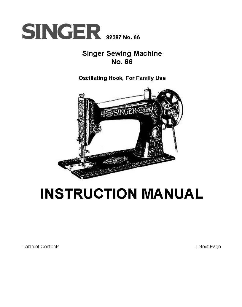 Singer Model 66 Sewing Machine Instruction Manual Pdf