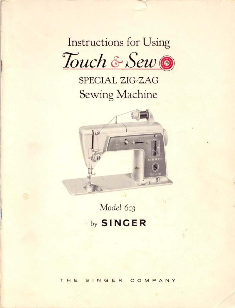 Singer Model 603 Sewing Machine Manual Pdf