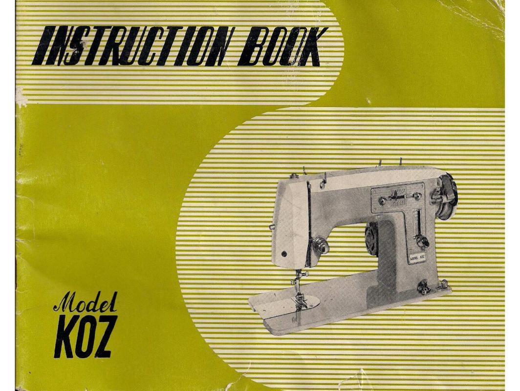 Koz Sewing Machine Instruction Manual Pdf