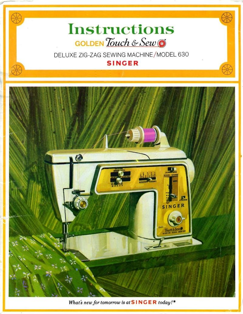 Singer 630 Sewing Machine Instruction Manual Pdf