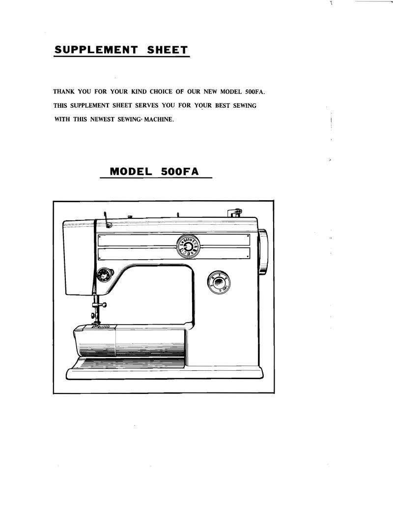 Riccar Super Automatic Sewing Machine Manual Pdf