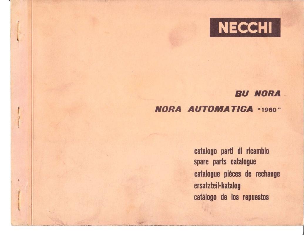 Necchi Model 1960 BU Sewing Machine Parts Catalogue Pdf