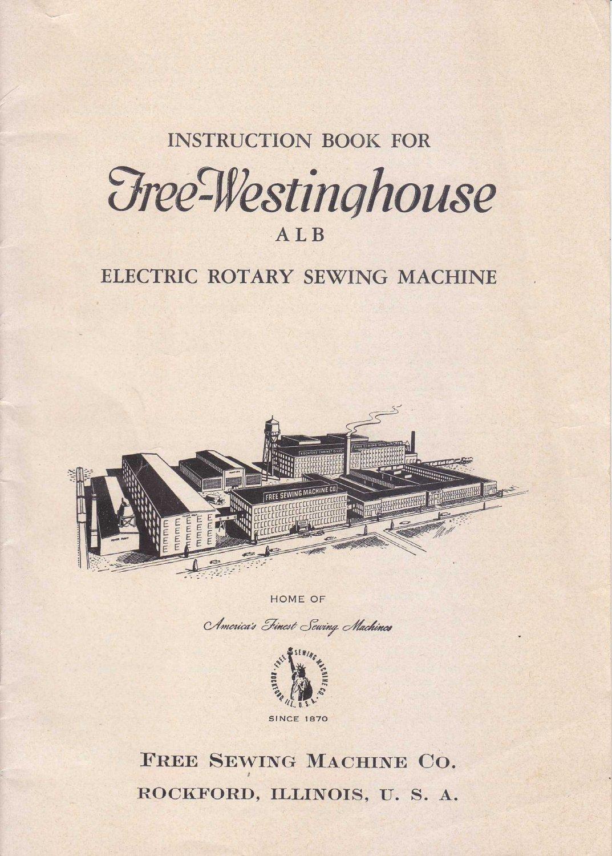 Free Westinghouse Sewing Manual