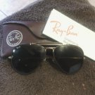 Ray Ban sunglasses leather trim outdoorsman