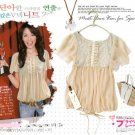 ML 8016 Beige  chiffon short blouse