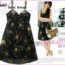 ML 9038 Black butterfly printed dress