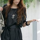 ML 8042 Black silk blouse