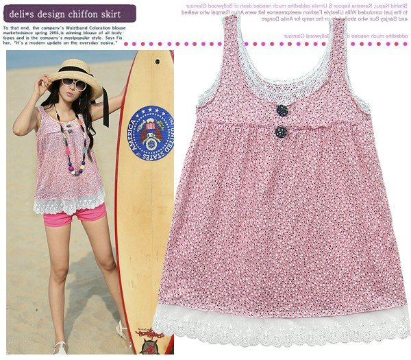 ML 8049 Pink color short sleeves top