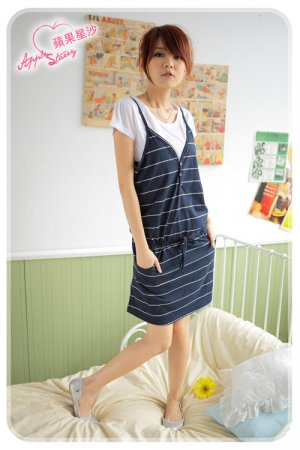ML 9051 Blue stripe dress