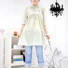 ML 9060 cream long sleeves dress