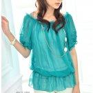 ML 8062 White chiffon blouse