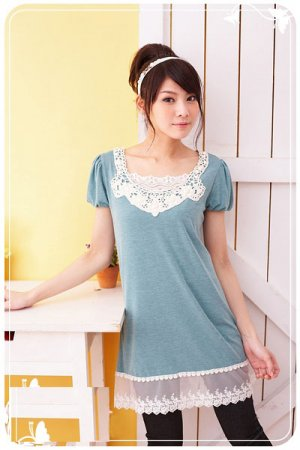 ML 8067 light grey lace top