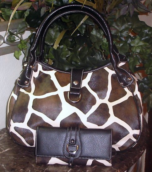 Giraffe Designer Inspired Handbag Satchel