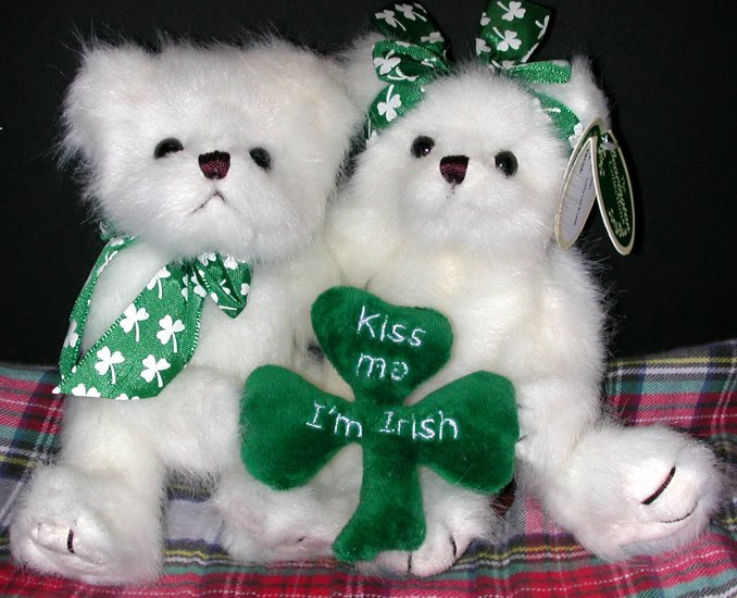 Bearington Bear St. Patrick's Irish Pair - Lucky Lad & Lass