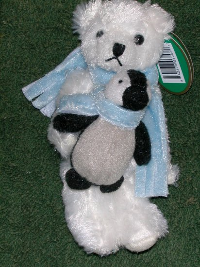 Bearington Bear & Penguin Christmas Ornament Bill & Chill