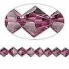 6mm swarovski crystal *amethyst* with silver spacers bracelet
