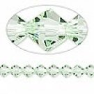 8mm swarovski crystal *chrysolite* with silver spacer 7 inch bracelet