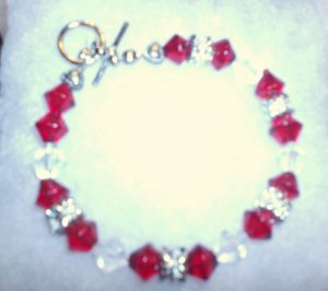 red Ruby color stones/ clear stones