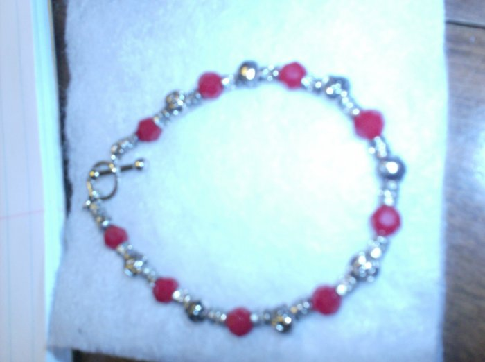 red with rose spacers