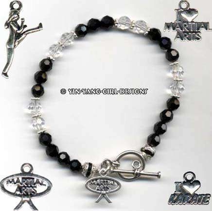 Karate/Martial Arts Black Belt Bracelet, UNIQUE!