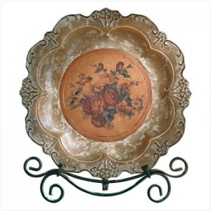 ROSE PLATE WITH STAND
