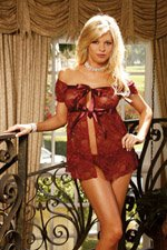 Lingerie Burgundy Lace Baby Doll