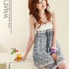20s Twenties Floral Chiffon Dress (Grey) A1211