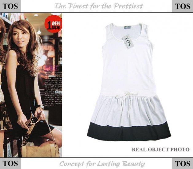20s Twenties Cotton White Dress A3621