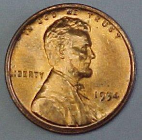 1934-P Gem BU Lincoln Wheat Cent