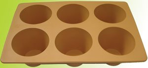 Silicone bakeware(6 cup muffin deep pan)