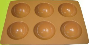 Silicone bakeware(6 cup  halt sphere)