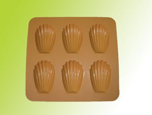 Silicone bakeware(6 cup  madeleine)
