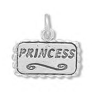 Sterling Silver Princess Charm