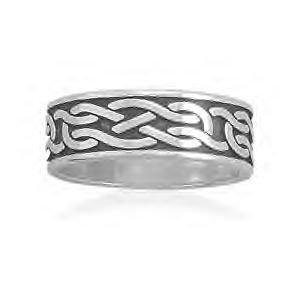Celtic Knot Design Sterling Silver Ring