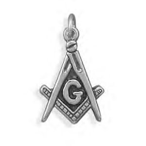 Sterling Silver Masons Symbol Charm