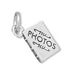 Sterling Silver Photo Album Charm